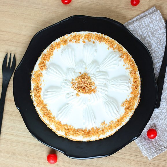 Luscious Butterscotch Cake - Top View