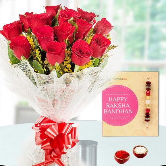 Rakhi and Flowers for Brothers