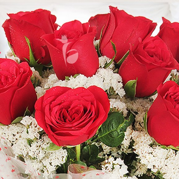 Zoom view of 12 red roses - A gift of Made For You Combo