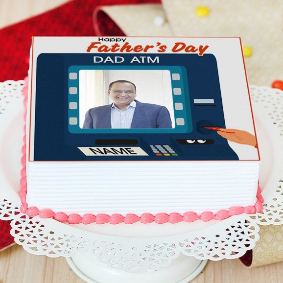 Fathers day photo cake - Zoom View