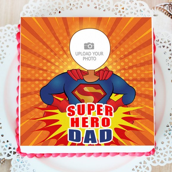 Photo Cake for Dad - Top View