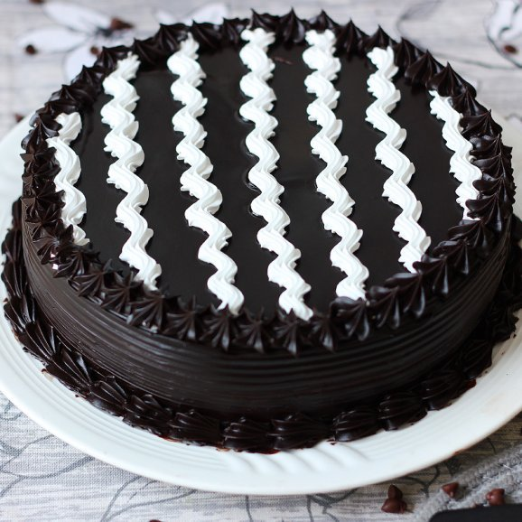 Chocolate Truffle Cake - Zoom View