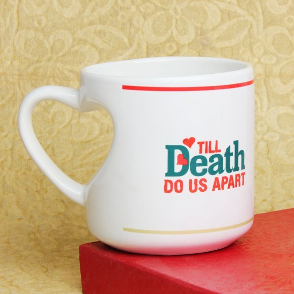 Till Death Do Us Apart Printed Mug with Left Sided View
