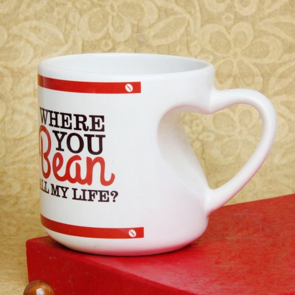 Where You Bean All of My Life Mug with Front Sided View