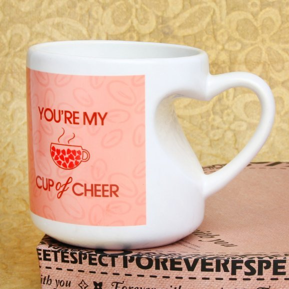 My Cup of Cheer Printed Mug with Front Sided View