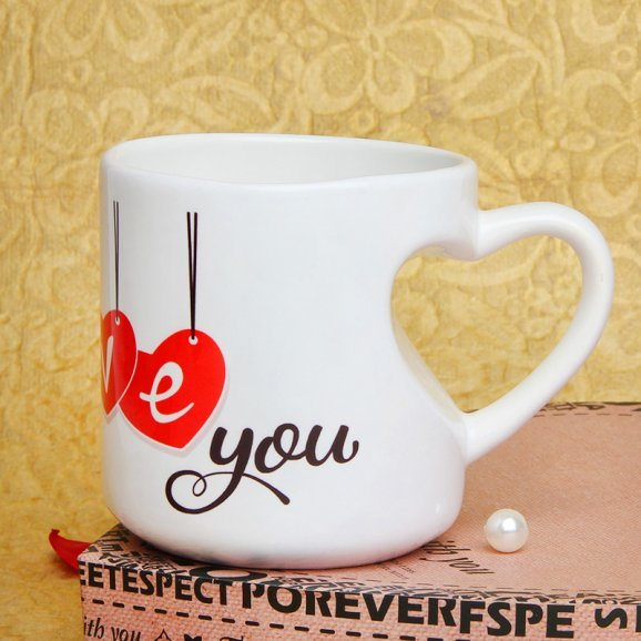 Love You Mug Mug with Front Sided View