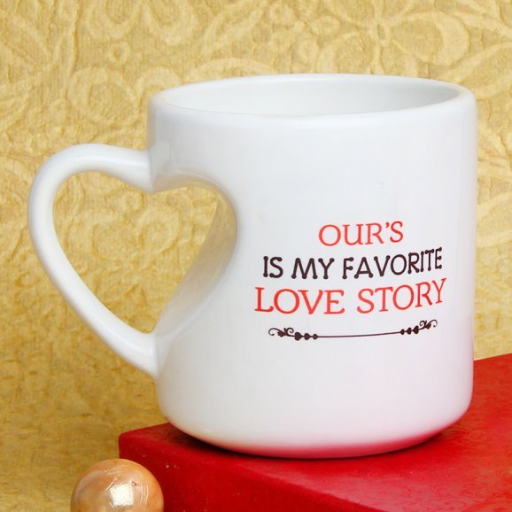 My Favorite Love Story Mug with Left Sided View