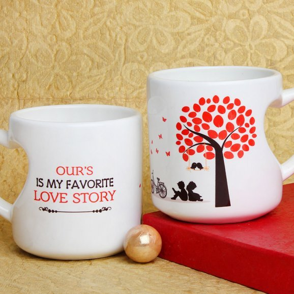 My Favorite Love Story Mug with Both Sided View