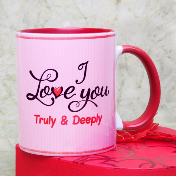 Truly Deeply Madly Love Mug with Front View