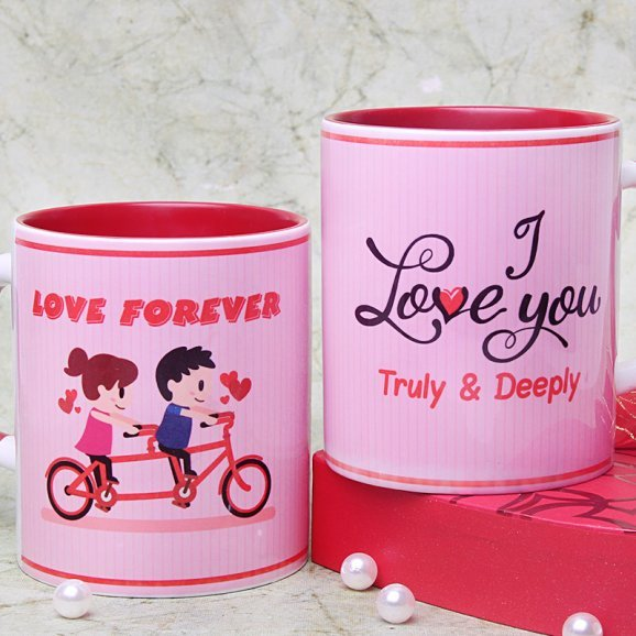 Truly Deeply Madly Love Mug with Both Sided View