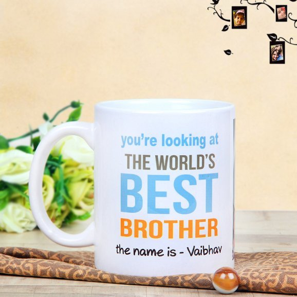 Personalised Brothers Mug with Back Sided View