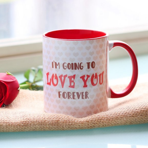 Love Forever Printed Couple Mug with Front Side View