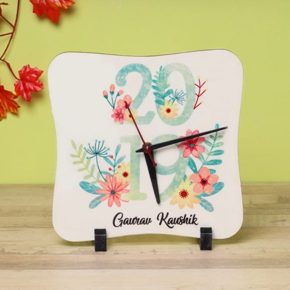 Personalised Table Clock