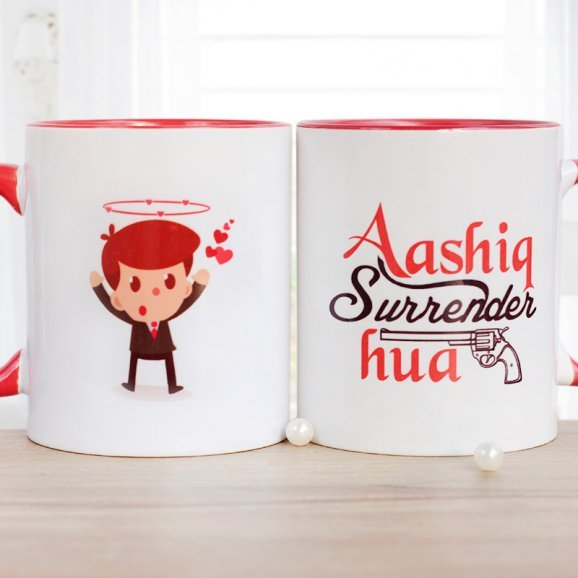 Aashiq Surrender Hua Printed Mug with Both Sided View