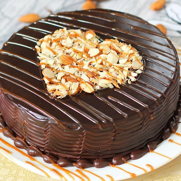 Appetizing Choco Cake with Zoomed in View