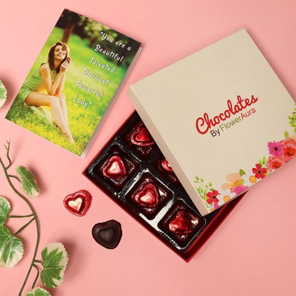 Personalised Card with Chocolates Combo