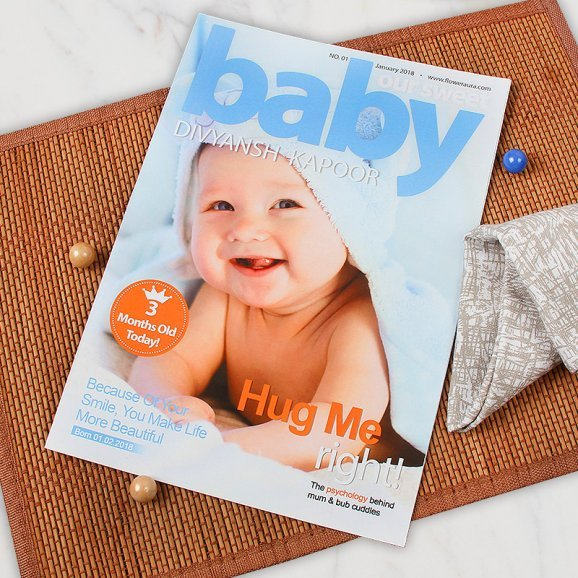 Personalsied Baby Magazine Cover for Children
