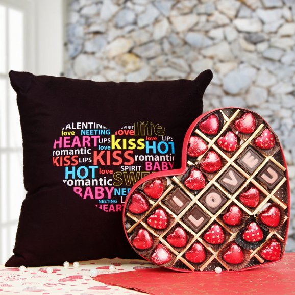 A Combo of Cushion and Chocolates