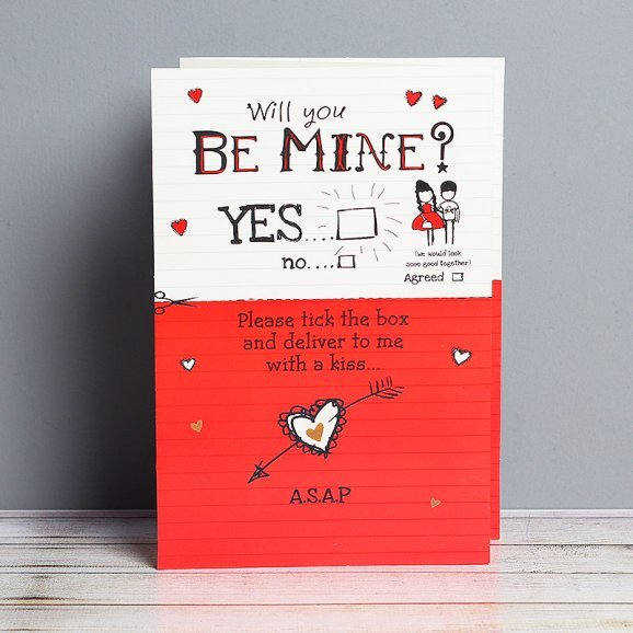 Will You Be Mine Card