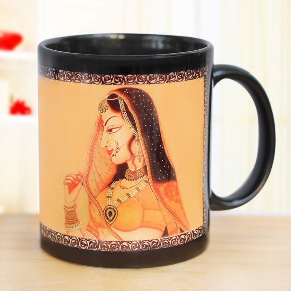 Be My Queen Printed Mug with Front Sided View