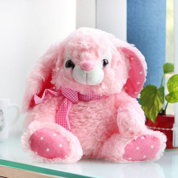 11 Inches Pink Rabbit Soft Toy