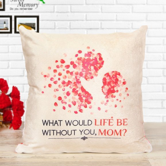 One Cushion with Mother Daughter Print View