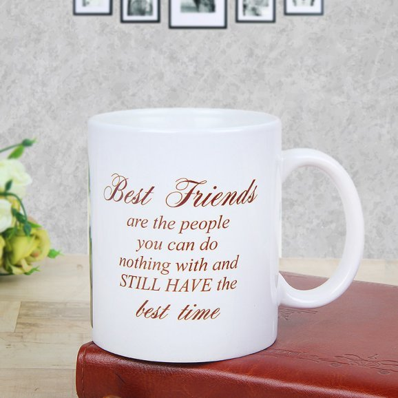 Customized Coffee Mugs for Friends with Back Sided View