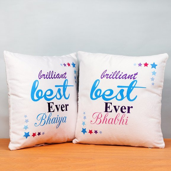 Bhaiya Bhabi Cushion Set