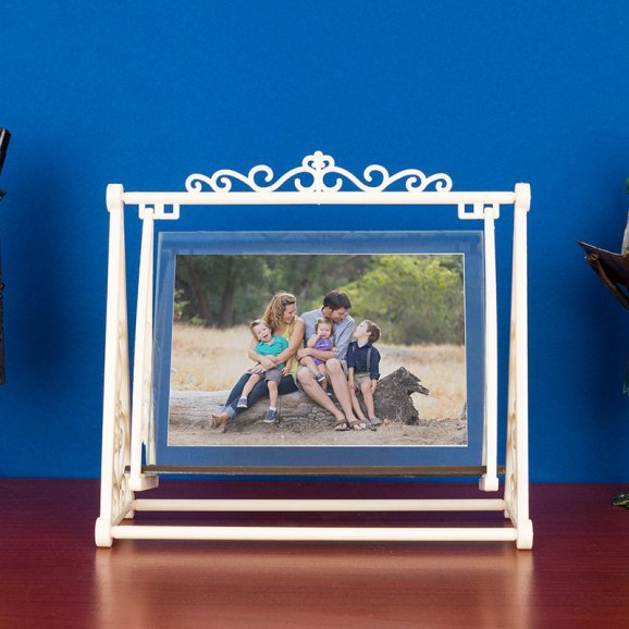 White Swing Table Top Photo Frame