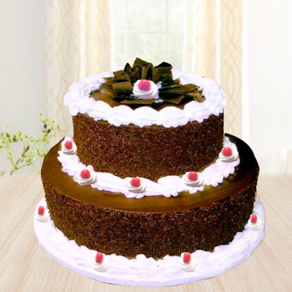 2 tier black forest cake - 2nd gift of Black Forest Beauty