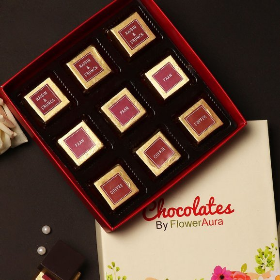 Mixed Flavored Handmade Chocolates in a Box