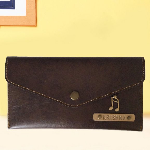 Brown Personalized Ladies Wallet