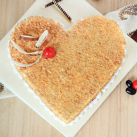 Butterscotch Fondness Cake with Top View