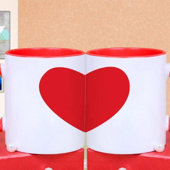 Combo of Chocolates and Cartoon Mugs with Back Sided View