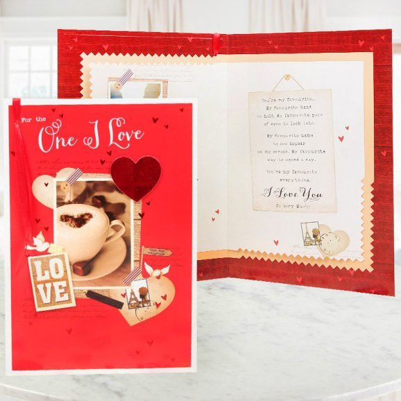 Love Card with Opened View