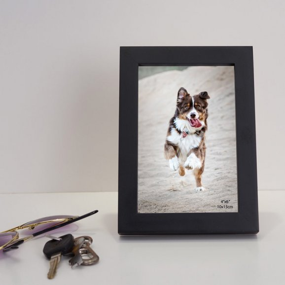 Black Wooden 4X6 Photo Frame