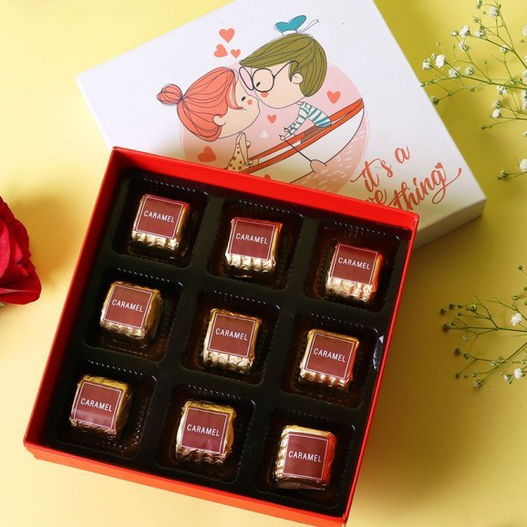 Handmade Caramel Chocolates in a Box