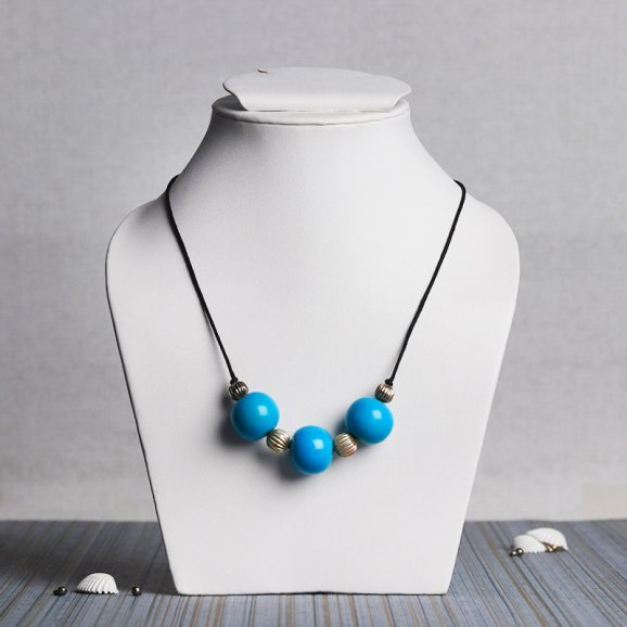 Three Blue Stoned Necklace
