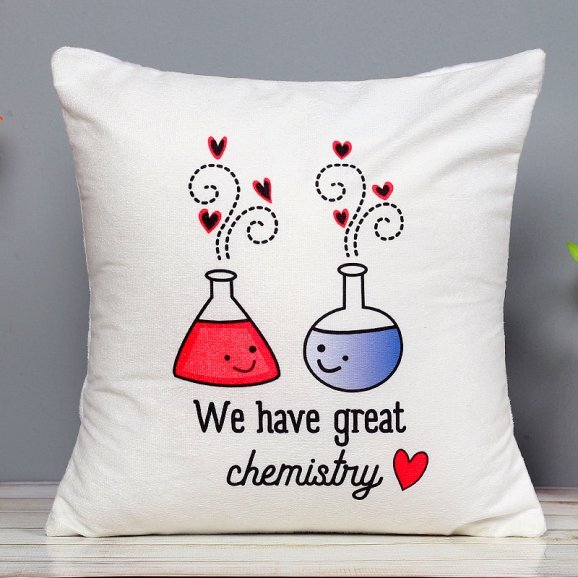 Great Chemistry Emojis Cushion with Zoomed in View
