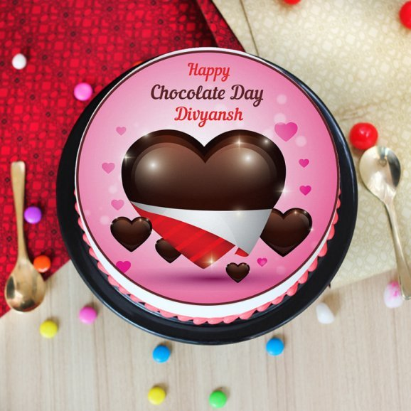 Photo cake for chocolate day