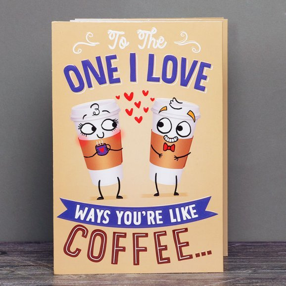 Love Greeting Card for Coffee Lover