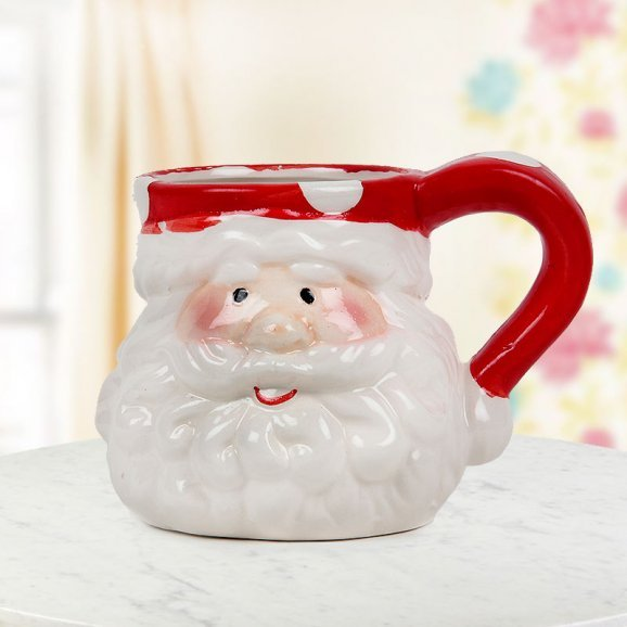 Duo-colored red and white Santa special Coffee Mug