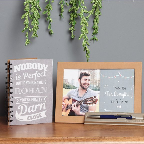 Personalised Combo of Frame and Notebook with Parker Pen