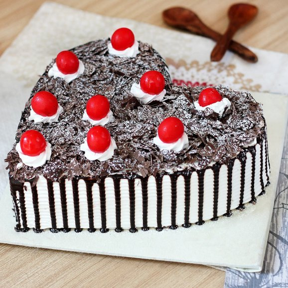 Decadent Black Forest Cake with Side View