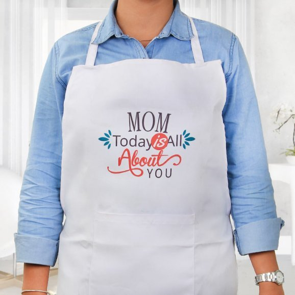 Dedicated To Mom Apron in Wearing View