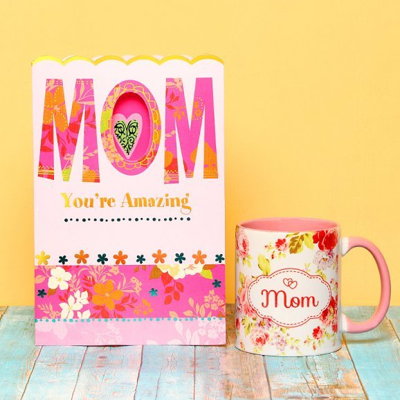 A Greeting Card and Mug for Mother