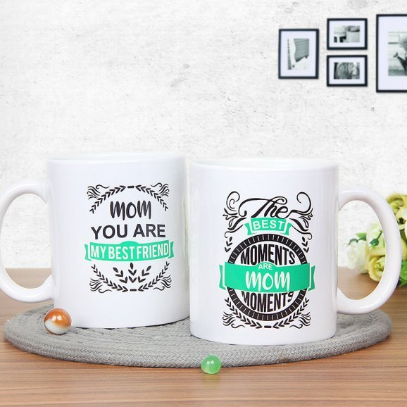 Best Mom Mug with Both Sided View