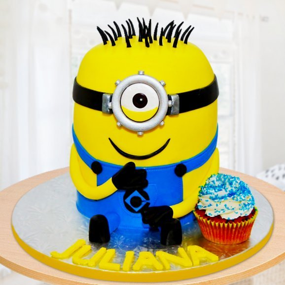 Despicable me minion cake for kids