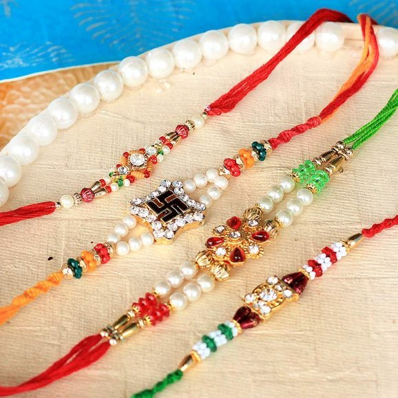 Divine Rakhi Set for brother and his family