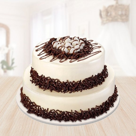 2 tier choco vanilla cake - 2nd gift of Double Deck Combo